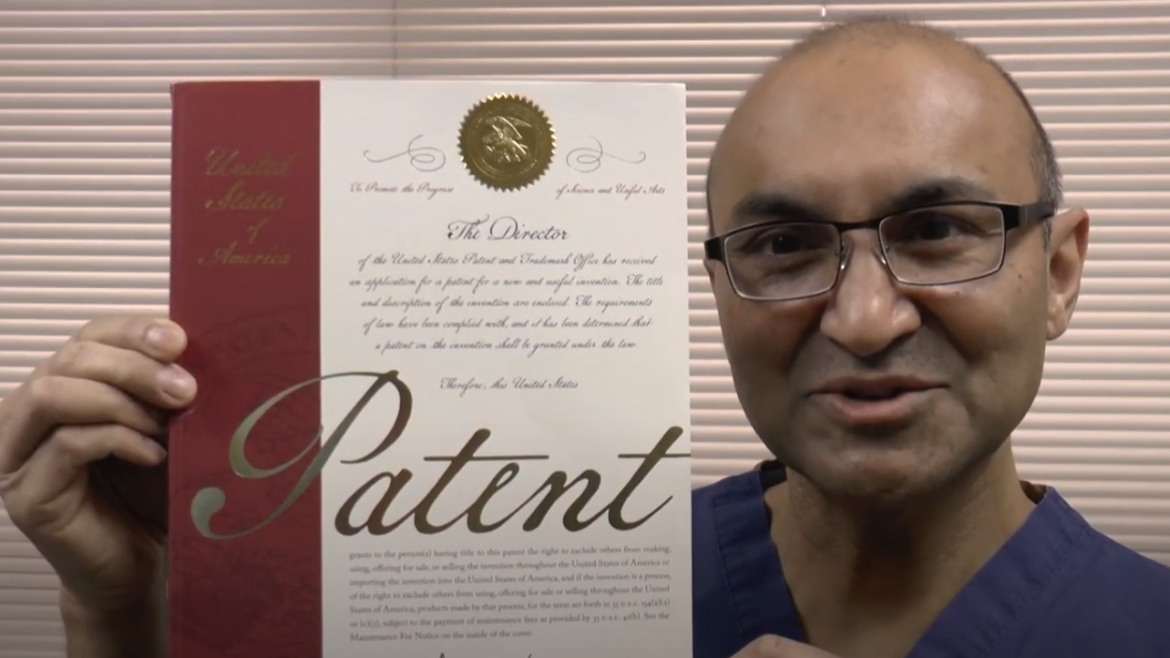 Dr. Janjua Receives First Patent for Medical Device